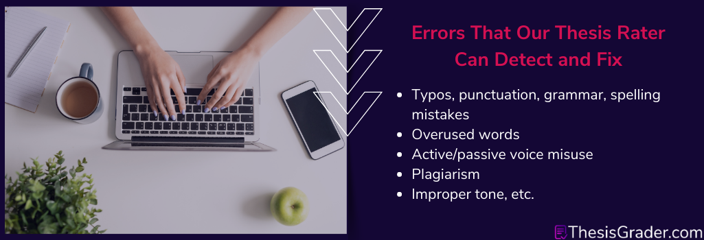 mistakes to fix with thesis rater